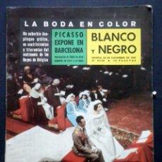 Collezionismo di Rivista Blanco y Negro: BLANCO Y NEGRO 24 DICIEMBRE 1960 BODA REYES DE BELGICA BALDUINO Y FABIOLA. Lote 39420721
