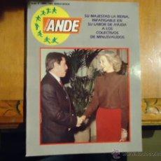 Coleccionismo de Revista Blanco y Negro: REVISTA ANDE 1989 SU MAJESTAD LA REINA INFATIBLE EN SU LABOR CON LOS COLECTIVOS DE MINUSVALIDOS. Lote 39495790