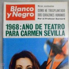 Coleccionismo de Revista Blanco y Negro: REVISTA BLANCO Y NEGRO. Nº Nº 2907. 1968. AÑO DE TEATRO PARA CARMEN SEVILLA. Lote 42484748