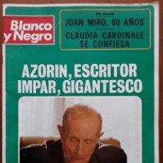 Coleccionismo de Revista Blanco y Negro: BLANCO Y NEGRO Nº 3183, 5 MAYO 1973. AZORÍN, ESCRITOR IMPAR, GIGANTESCO-JOAN MIRO-CLAUDIA CARNINALE.. Lote 43386528