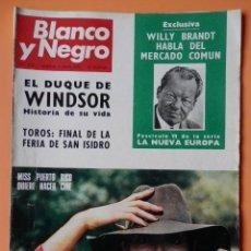 Coleccionismo de Revista Blanco y Negro: BLANCO Y NEGRO. 3 JUNIO 1972. WILLY BRANDT HABLA DEL MERCADO COMÚN. Nº 3135 - DIVERSOS AUTORES. Lote 43525489
