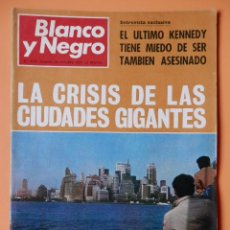 Coleccionismo de Revista Blanco y Negro: BLANCO Y NEGRO. 24 OCTUBRE 1970. LA CRISIS DE LAS CIUDADES GIGANTES. Nº 3051 - DIVERSOS AUTORES. Lote 43525545