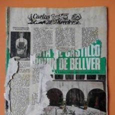 Coleccionismo de Revista Blanco y Negro: BLANCO Y NEGRO. 15 FEBRERO 1969. CASTILLO DE BELLVER. Nº 2963 - DIVERSOS AUTORES. Lote 43525716