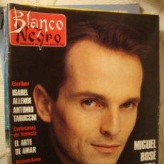 Coleccionismo de Revista Blanco y Negro: REVISTA BLANCO Y NEGRO 1990 MIGUEL BOSE LOT100. Lote 43839260