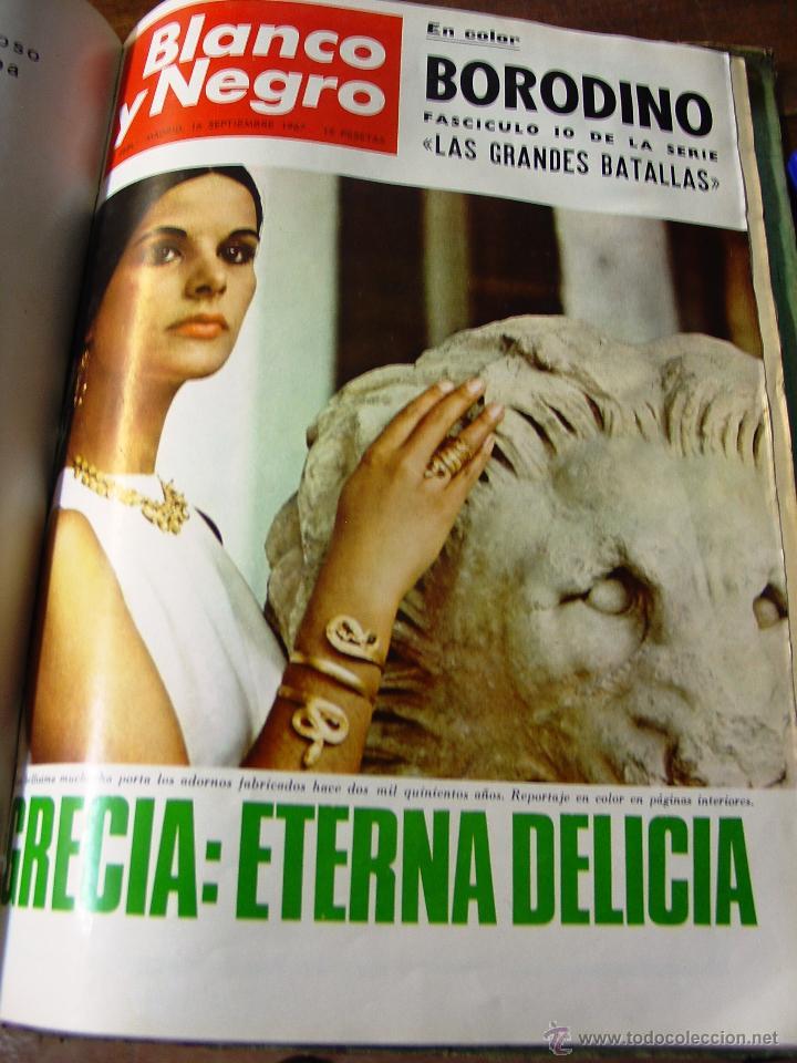 Coleccionismo de Revista Blanco y Negro: DOSIER CON 12 FASCÍCULOS DE LA REVISTA BLANCO Y NEGRO DE 1967 - Foto 6 - 44075910