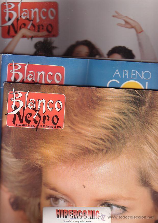 Coleccionismo de Revista Blanco y Negro: BLANCO Y NEGRO - AÑO 1990 , LOTE 6 EJEMPLARES - Foto 2 - 44417729