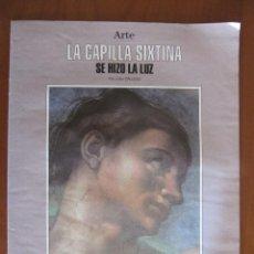 Coleccionismo de Revista Blanco y Negro: SUPLEMENTO ARTE SOBRE LA RESTAURACIÓN DE LA CAPILLA SIXTINA. Lote 44930465