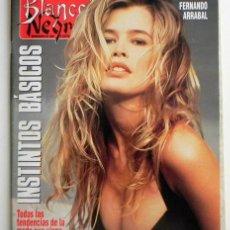 Coleccionismo de Revista Blanco y Negro: BLANCO Y NEGRO 1992 REVISTA CLAUDIA SCHIFFER INDURAIN FISCHER CELTAS CORTOS HARLEY DAVIDSON SUÁREZ. Lote 45179617