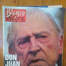 Coleccionismo de Revista Blanco y Negro: SEMANARIO BLANCO Y NEGRO, DE FECHA 19 DE JUNIO DE 1988. ESPECIAL DON JUAN, PADRE DEL REY JUAN CARLOS. Lote 45378308