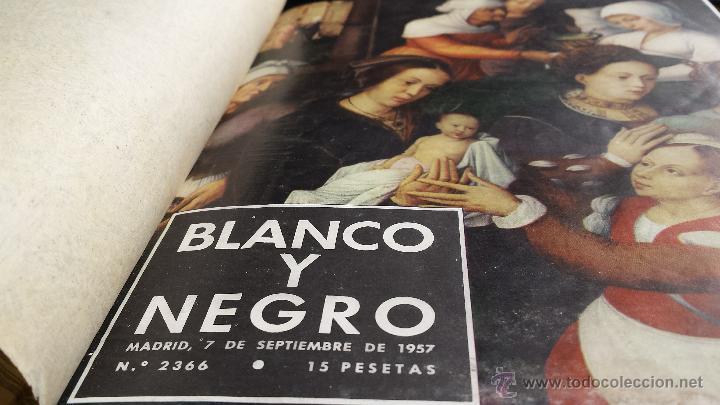 Coleccionismo de Revista Blanco y Negro: encuadernación blanco y negro 1957 septiembre y octubre. libro revista - Foto 2 - 45902447