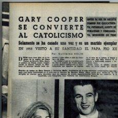 Coleccionismo de Revista Blanco y Negro: AÑO 1959 BOMBONES NESTLE BRANDY 1850 VALDESPINO CINE GARY COOPER CATOLICISMO PADRE BOTELLA SANCHO. Lote 47082139