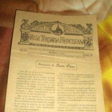 Coleccionismo de Revista Blanco y Negro: 1953 HOJA TERCIARIA FRANCISCANA. Lote 47270167