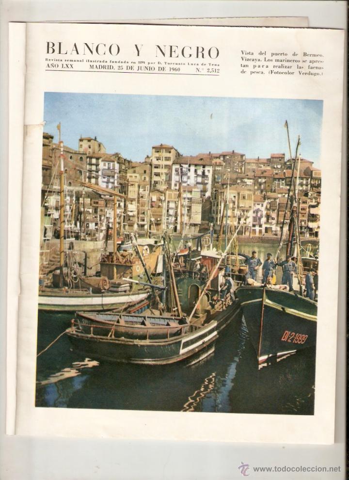 AÑO 1960 BERMEO VIZCAYA CONCURSO PESCA ATUN ALVAREZ PICKMAN CAMPARI BEBIDAS BURGOS MOTOCROSS (Coleccionismo - Revistas y Periódicos Modernos (a partir de 1.940) - Blanco y Negro)