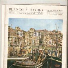 Coleccionismo de Revista Blanco y Negro: AÑO 1960 BERMEO VIZCAYA CONCURSO PESCA ATUN ALVAREZ PICKMAN CAMPARI BEBIDAS BURGOS MOTOCROSS. Lote 48002081