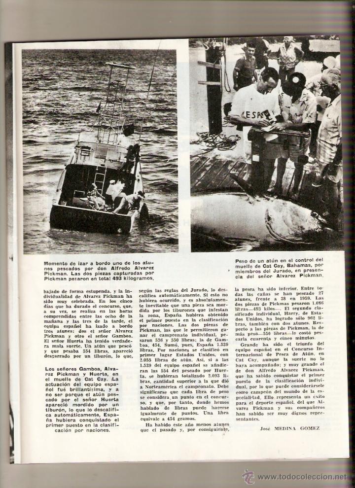 Coleccionismo de Revista Blanco y Negro: AÑO 1960 BERMEO VIZCAYA CONCURSO PESCA ATUN ALVAREZ PICKMAN CAMPARI BEBIDAS BURGOS MOTOCROSS - Foto 3 - 48002081