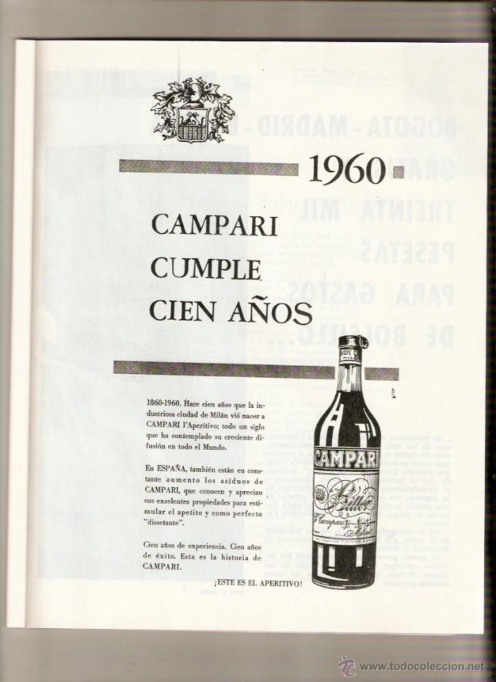 Coleccionismo de Revista Blanco y Negro: AÑO 1960 BERMEO VIZCAYA CONCURSO PESCA ATUN ALVAREZ PICKMAN CAMPARI BEBIDAS BURGOS MOTOCROSS - Foto 4 - 48002081