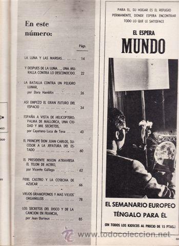 Coleccionismo de Revista Blanco y Negro: REVISTA BLANCO Y NEGRO Nº 2986 AÑO 1969. LA LUNA YA. PALMA DE MALLORCA. - Foto 2 - 48137704