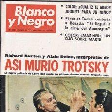 Colecionismo de Revistas Preto e Branco: REVISTA BLANCO Y NEGRO Nº 3110 AÑO 1971. ASI MURIO TROTSKY. PEREZ DE TUDELA CONTESTA A BONATTI. . Lote 48265280