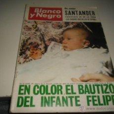 Colecionismo de Revistas Preto e Branco: REVISTA BLANCO Y NEGRO 1968 2911 BAUTIZO INFANTE FELIPE . Lote 48289560