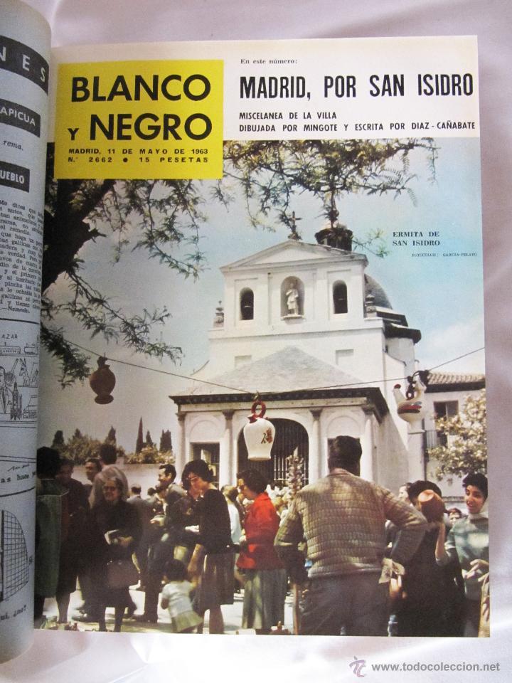 Coleccionismo de Revista Blanco y Negro: TOMO BLANCO Y NEGRO 1963 - VOL 3 - NºS DE 2661 A 2669 ENCUADERNADOS - Foto 4 - 48625392