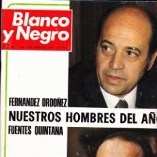 Colecionismo de Revistas Preto e Branco: REVISTA··BLANCO Y NEGRO ·· Nº 3427··1978··FERNANDO ORDOÑEZ NUESTROS HOMBRES DEL AÑO FUENTES QUINTANA. Lote 48930083