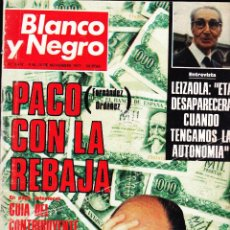 Colecionismo de Revistas Preto e Branco: REVISTA··BLANCO Y NEGRO ·· Nº 3419 ·· 1977··PACO FERNANDEZ ORDOÑEZ CON LA REBAJA. Lote 48930106
