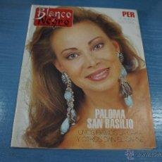Coleccionismo de Revista Blanco y Negro: REVISTA:BLANCO Y NEGRO,Nº3782,PALOMA SAN BASILIO,JOSÉ LUIS SANZ-MAGALLÓN,GENESIS,ALEJANDRO SANZ. Lote 49391351