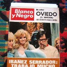 Coleccionismo de Revista Blanco y Negro: BLANCO Y NEGRO / NARCISO CHICHO IBAÑEZ SERRADOR, HISTORIAS DE LA FRIVOLIDAD, OVIEDO, NATHALIE DELON. Lote 50075501