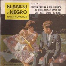 Coleccionismo de Revista Blanco y Negro: REVISTA BLANCO Y NEGRO Nº 2542 21 ENERO 1961 INVESTIDURA KENNEDY. Lote 50115502