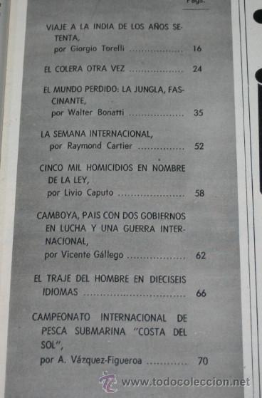 Coleccionismo de Revista Blanco y Negro: BLANCO Y NEGRO Nº 3045 12 SEPTIEMBRE 1970, MODA, MUNDO PERDIDO, COLERA, CAMPEONATO PESCA SUBMARINA - Foto 2 - 50961264