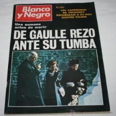 Coleccionismo de Revista Blanco y Negro: BLANCO Y NEGRO Nº 3055 21 NOVIEMBRE 1970, DE GAULLE REZO ANTE SU TUMBA UNA SEMANA ANTES DE MORIR. Lote 50961392