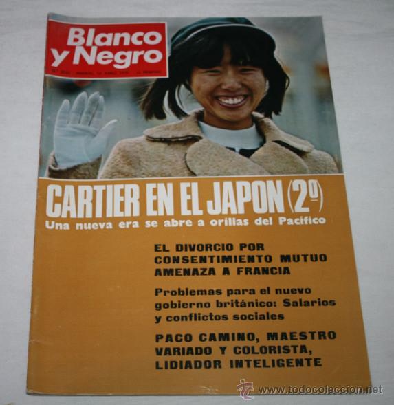 BLANCO Y NEGRO Nº 3032 13 JUNIO 1970, PACO CAMINO, CARTIER JAPON, CIUDAD RODRIGO, CATASTROFE EN PERU (Coleccionismo - Revistas y Periódicos Modernos (a partir de 1.940) - Blanco y Negro)