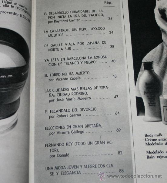 Coleccionismo de Revista Blanco y Negro: BLANCO Y NEGRO Nº 3032 13 JUNIO 1970, PACO CAMINO, CARTIER JAPON, CIUDAD RODRIGO, CATASTROFE EN PERU - Foto 2 - 50963007