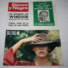 Coleccionismo de Revista Blanco y Negro: BLANCO Y NEGRO Nº 3135 3 JUNIO 1972, WINDSOR, ANGEL NIETO, FIAT 132, MISS LINETTE MORALES, REVISTA. Lote 50963091