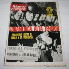 Coleccionismo de Revista Blanco y Negro: BLANCO Y NEGRO Nº 3205, 6 OCTUBRE 1973, CHILE, VIOLENCIA EN ARGENTINA, FRANCO 37 AÑOS, RUMANIA. Lote 50963849