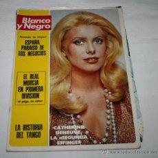Coleccionismo de Revista Blanco y Negro: BLANCO Y NEGRO Nº 3184, 12 MAYO 1973, CATHERINE DENEUVE, LOS 6 ASCENSOS DEL MURCIA A PRIMERA. Lote 50963893