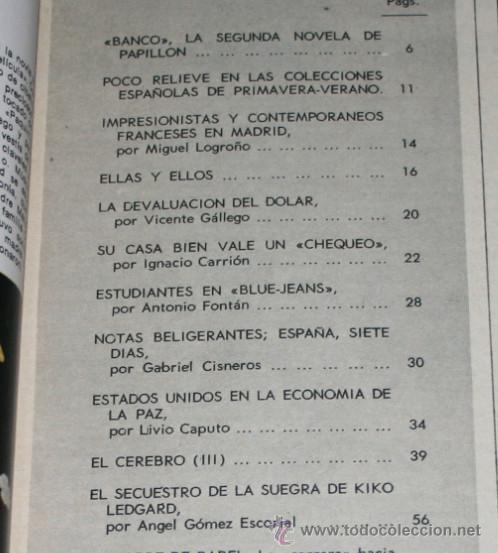 Coleccionismo de Revista Blanco y Negro: BLANCO Y NEGRO Nº 3173, 24 FEBRERO 1973, CHINA EN DIRECTO, BLUE-JEANS, BANCO PAPILLON, REVISTA - Foto 2 - 50963943