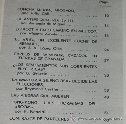 Coleccionismo de Revista Blanco y Negro: BLANCO Y NEGRO Nº 3158, 11 NOVIEMBRE 1972, R-5, CARLOS DE WINDSOR, PACO CAMINO, PIEDRAS QUE MUEREN - Foto 2 - 50964109