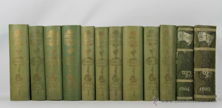 6849 - REVISTA BLANCO Y NEGRO.12 VOLUMENES. (VER DESCRIP). IMPR. BLANCO Y NEGRO. 1902-1914. (Coleccionismo - Revistas y Periódicos Modernos (a partir de 1.940) - Blanco y Negro)