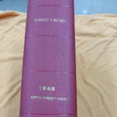 Coleccionismo de Revista Blanco y Negro: REVISTA BLANCO Y NEGRO - TOMO CON TODOS LOS NÚMEROS DE ENERO, FEBRERO Y MARZO DE 1958 . Lote 57428772
