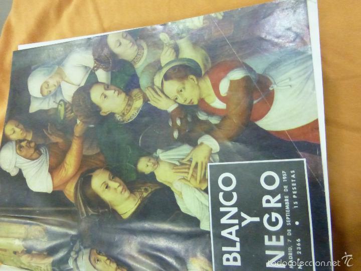 Coleccionismo de Revista Blanco y Negro: REVISTA BLANCO Y NEGRO. TOMO CON TODOS LOS NÚMEROS DE SEPTIEMBRE, OCTUBRE Y NOVIEMBRE DE 1957 - Foto 3 - 57428816