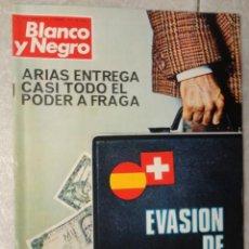 Coleccionismo de Revista Blanco y Negro: REVISTA BLANCO Y NEGRO Nº 3320 AÑO 1975 -NUEVO GOBIERNO -EVASION DE CAPITALES -MORIR EN EL SAHARA. Lote 68050965