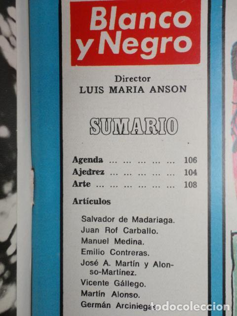 Coleccionismo de Revista Blanco y Negro: REVISTA BLANCO Y NEGRO Nº 3320 AÑO 1975 -NUEVO GOBIERNO -EVASION DE CAPITALES -MORIR EN EL SAHARA - Foto 2 - 68050965