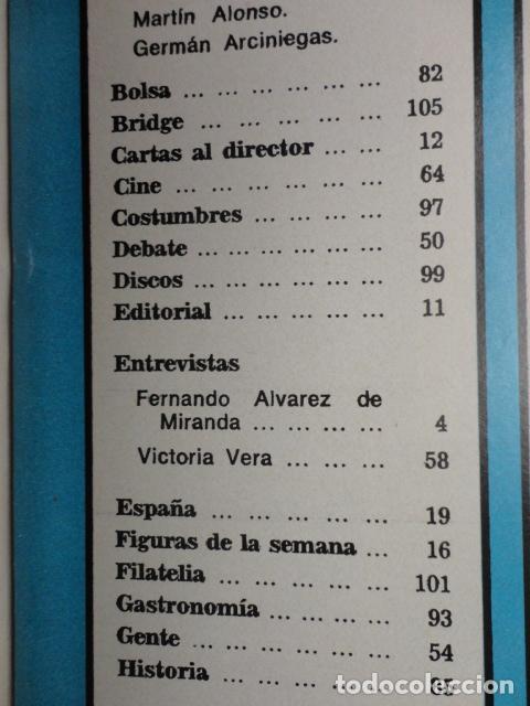 Coleccionismo de Revista Blanco y Negro: REVISTA BLANCO Y NEGRO Nº 3320 AÑO 1975 -NUEVO GOBIERNO -EVASION DE CAPITALES -MORIR EN EL SAHARA - Foto 3 - 68050965