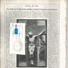 Coleccionismo de Revista Blanco y Negro: BYN 3 FEB 1924.Nº 1707. ESCULTOR NAVARRO FRUCTUOSO ORDUÑA. ANTONIO MENDEZ CASAL. XAUDARO. Lote 68524477