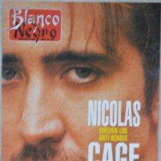 Coleccionismo de Revista Blanco y Negro: REVISTA BLANCO Y NEGRO. Nº 4006. SEMANARIO DE ABC. 7 ABRIL DE 1996. NICOLAS CAGE. Lote 68987113