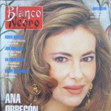 Collectionnisme de Magazine Blanco y Negro: BLANCO Y NEGRO 3853. ANA OBREGÓN, JON BON JOVI, BORIS BECKER, ALBAHACA, ANDIE MCDOWELL, NATI MISTRAL. Lote 69763925