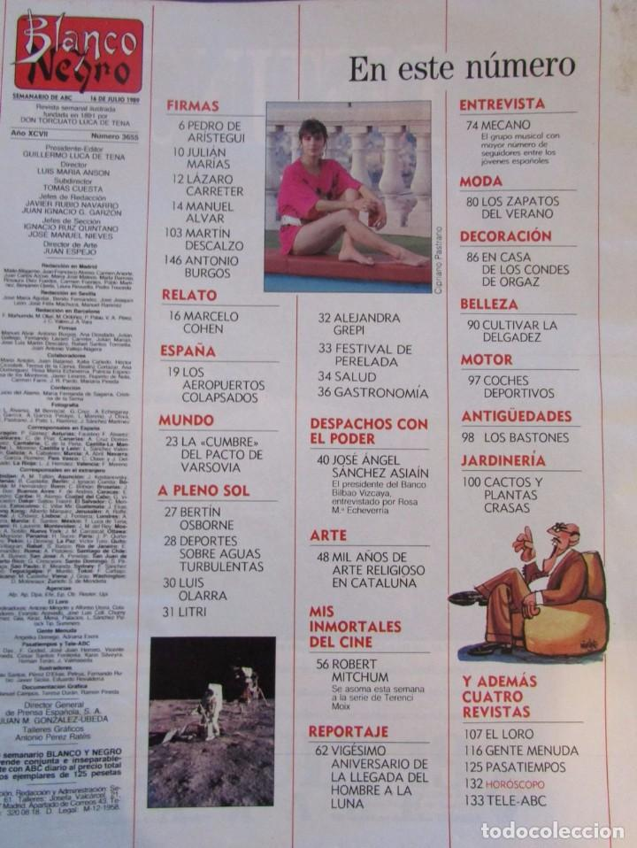BLANCO Y NEGRO 3655  MECANO, BETÍN OSBORNE, LITRI, ROBERT MITCHUM,  ALEJANDRA GREPI