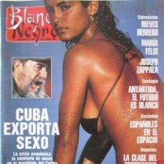 Colecionismo de Revistas Preto e Branco: BLANCO Y NEGRO 3748 1991. MARÍA FÉLIX, ANNETTE BENIG, ESTUDIANTES BALONCESTO, NIEVES HERRERO.. Lote 72719403