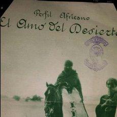 Coleccionismo de Revista Blanco y Negro: EL AMO DEL DESIERTO. POEMA DE M.R. BLANCO BELMONTE. 1935. RECORTE REVISTA BLANCO Y NEGRO.. Lote 76338262